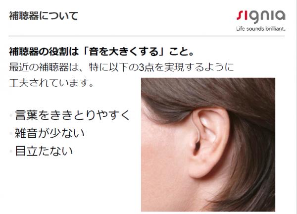 補聴器の役割
