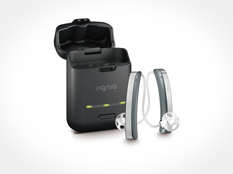 面倒な電池交換から解放、置くだけ簡単な充電式補聴器